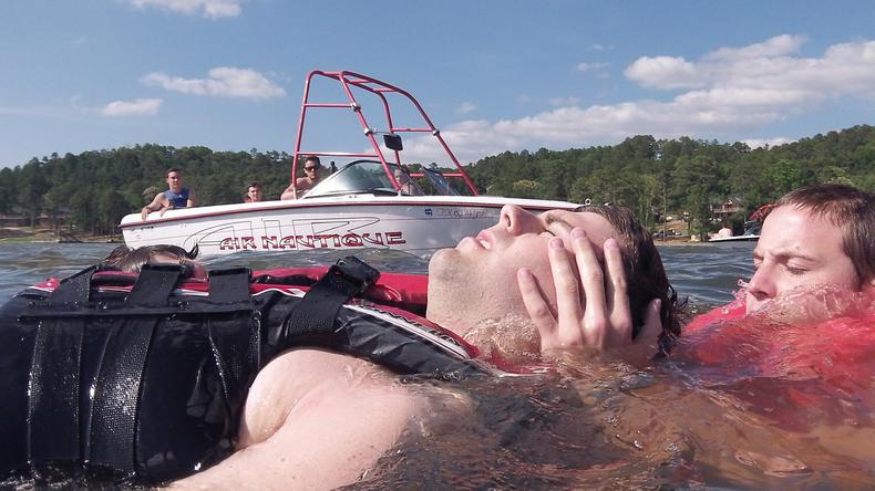 Training Pine Cove Boat Drivers in Open Water Rescue Operations