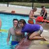 "Instructor ""Christina""  demonstrating proper hand/arm alignment at Pine Cove Towers in Tyler on a victim with a suspected spinal injury. The victim could be face up,face down, or even underwater while using this technique that protects their head, neck and back before placing them on the backboard!"