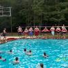 Instructors preparing lifeguards for a skills practice at Pine Cove Ranch Camp.